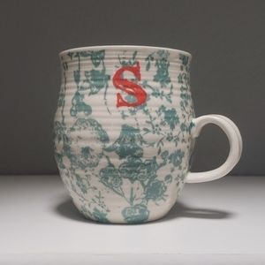 "💜Anthropologie ""S"" Initial Coffee Mug"